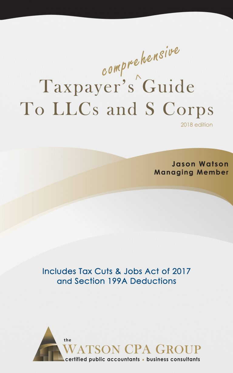 S Corp Benefits - Avoid Self-Employment Taxes - Watson CPA Group